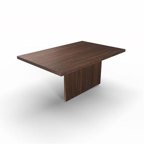 Lithos Central Desk Extension In Dark Oak