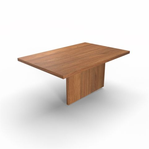 Lithos Central Desk Extension In Natural Walnut