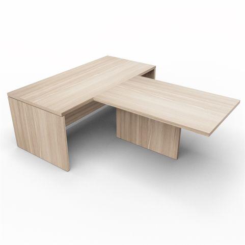 Lithos Desk With Central Desk Extension In Oak
