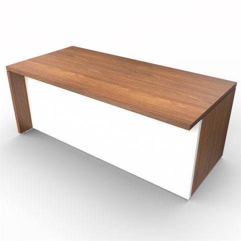 Lithos Monolight Desk In Natural Walnut + White