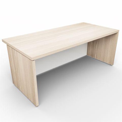 Lithos Monolight Desk In Oak + White - Rear