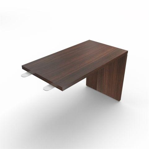 Lithos Desk Return Extension In Dark Oak