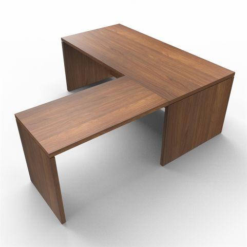 Lithos Desk Return With Extension In Natural Walnut - Shot 2