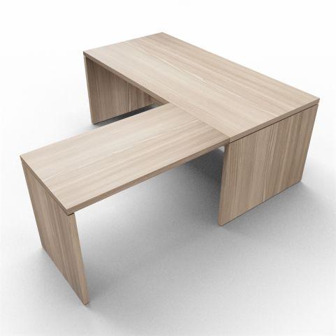 Lithos Desk With Return Extension In Oak - Shot 2