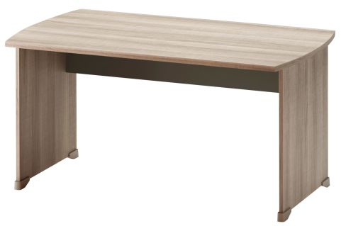 Jazz Rectangular Desk Grey Oak 1400mm