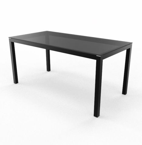 Impuls Black Top And Black Legs Executive Desk