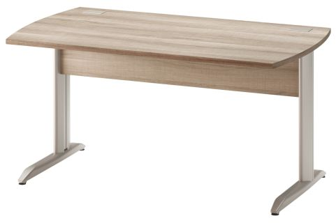 Jazz Desk With Metal Legs Grey Oak 1400mm