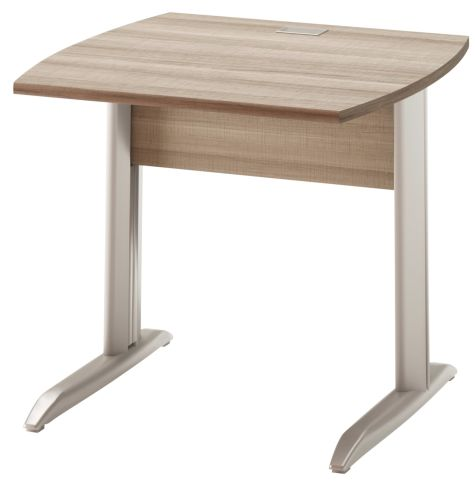 Jazz Desk With Metal Legs Grey Oak 800mm