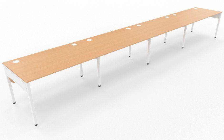 Pleasing Set Of Four Rectangular Side By Side Desks Livato Office Machost Co Dining Chair Design Ideas Machostcouk