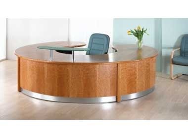 Circular Veneer Reception Desk Nimbus Office Reality