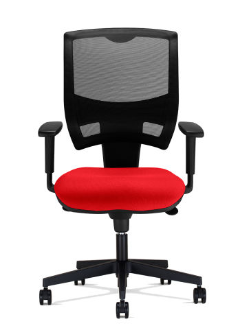 Red Seat And Mesh Back