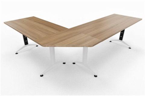 Travido 10 1600mm Desk With Corner Link And Return 1200mm