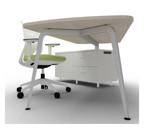 Elacia Single Desk With Credenza Unit