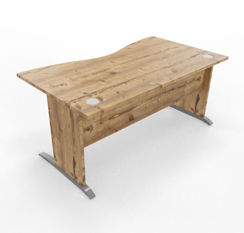 Oslo Double Wave DTimber Top Timber Legs Cantiliver Leg