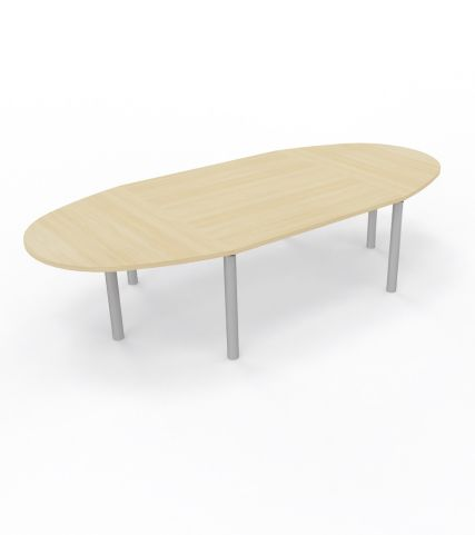 Modulo Table 10 People Table Cylindrical Leg Royal Brown Oak