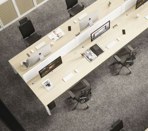 Buro 4 Person X Person Bench Desk