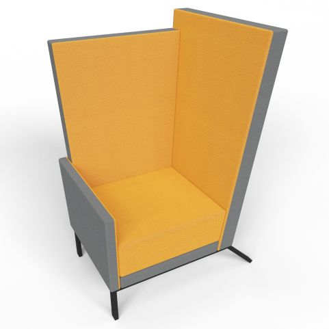Georgina Grey And Orange High Back Acoustic Chair With Black Legs
