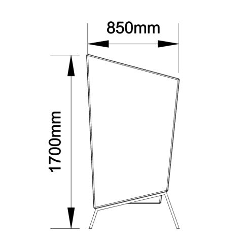 High Back Chair - Side Dimensions