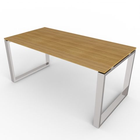 Loop Rectangular Desk With Chrome Frame
