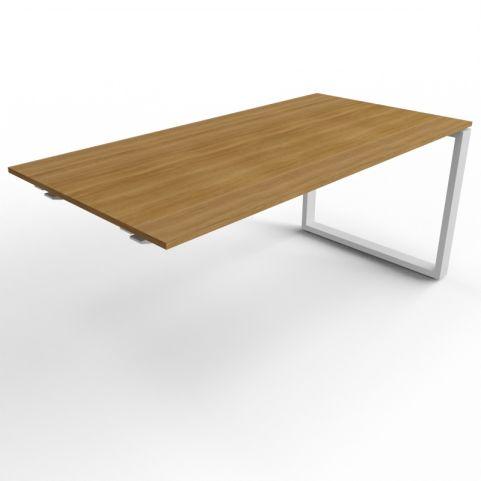 Loop Frame Desk Extension - Aluminium Legs