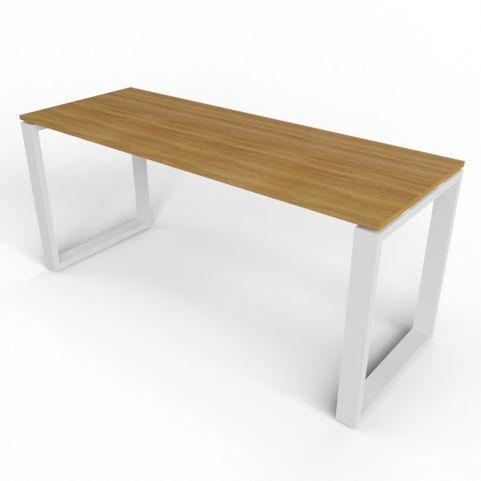 600mm Deep Loop Frame Desk With Aluminium Legs