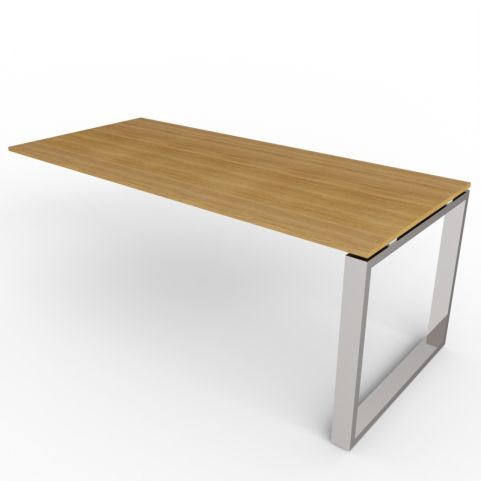 600mm Deep Loop Frame Desk Extension - Chrome Frame
