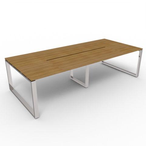Loop Frame Rectangular Table - Chrome Frame