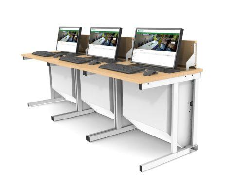 Pop Up IT Desk 3 In A Row