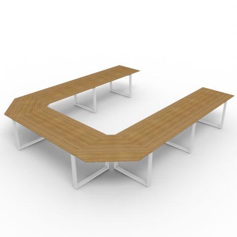 Horseshoe Loop Frame Desk - Aluminium Frame