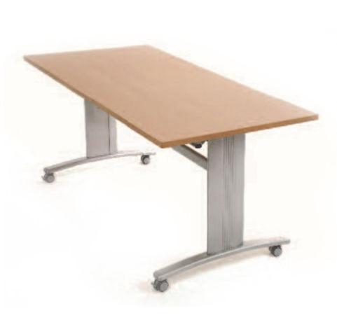 Rectangular Flip Top Table On Castors