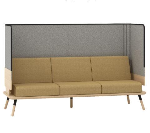Console 3 Seater Sofa High Back - Peacwork