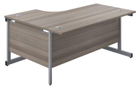 Draycott Right Hand Radial Desk In Grey Oak