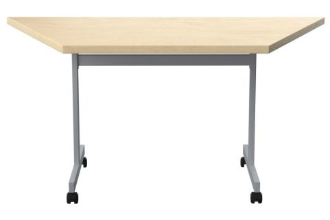 Draycott Trapexoidal Flip Top Table With A Maple Top Front View