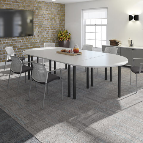 Raste Table Configuration Grey Top And Black Legs