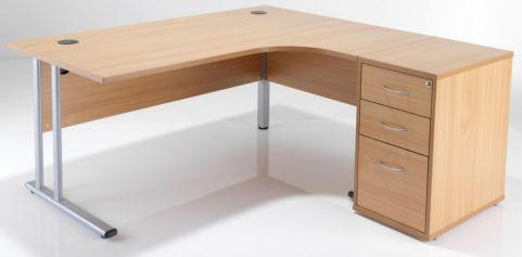 Ziggy Right Hand Corber Desk Bundke In Beech