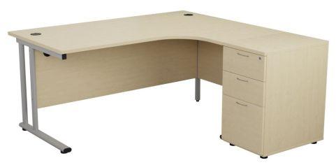 Ziggy Right Handcorner Desk Bundle In Maole