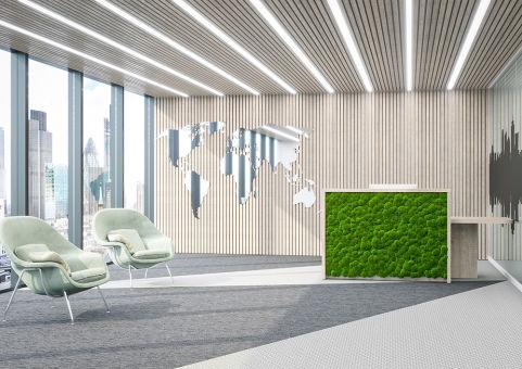Moss Panel Straight Reception Desk