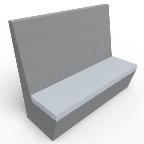 Standa 3 Seat Straight Acoustic Seating - Dark Grey & Light Grey Fabric