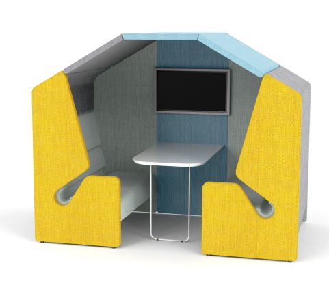 MINTAY 4 Person Antibacterial Meeting Pod With Roof - Office Reality