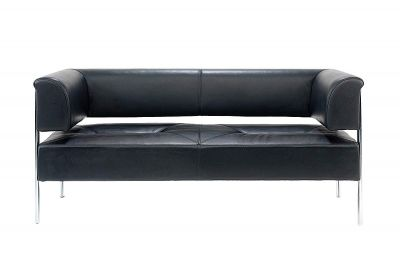 Palma Contemporary Black Leather Sofas
