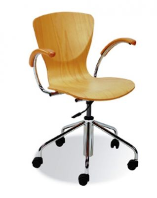 wooden swivel chair bungo office reality