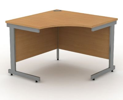 Canilever Symmetrical Corner Desk