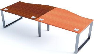 Side By Side Wave Desks