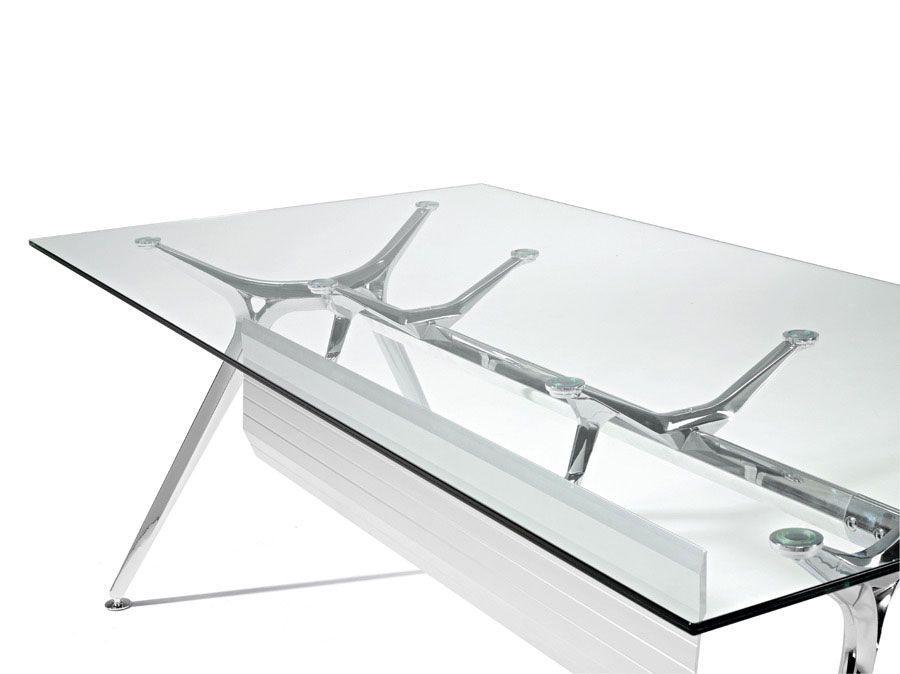 Arkitek rectangular glass tables office reality for Muebles oficina wks