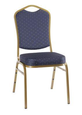 ARQ Blue Pattern Fabric - Gold Frame