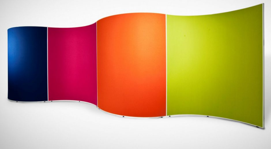 Curved Stylish Freestanding Office Screen Destiny