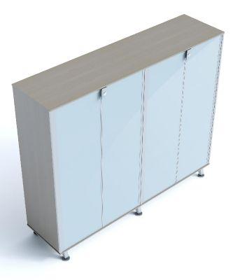 Block 40 Four Glass Door Cupboard