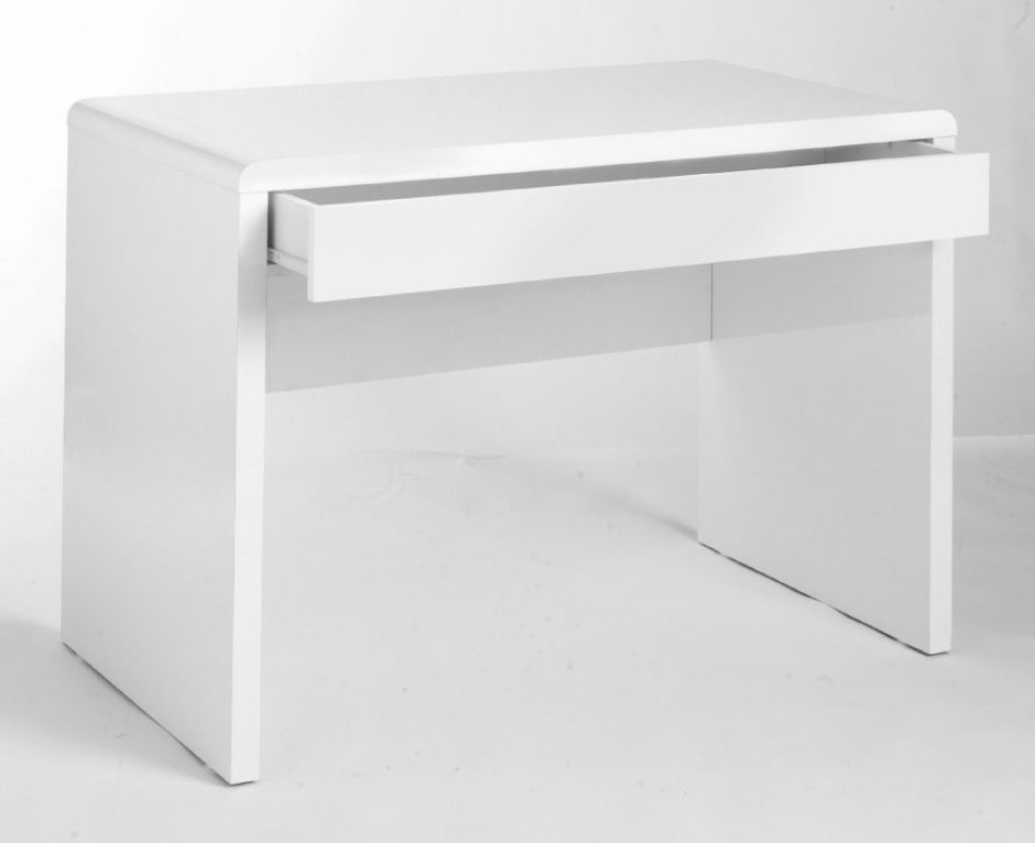 High Gloss White Office Desk Exile Office Reality