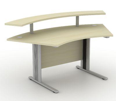 Avalon Plus Compact Reception Desk And Raised Shelf Back 2 10632 E