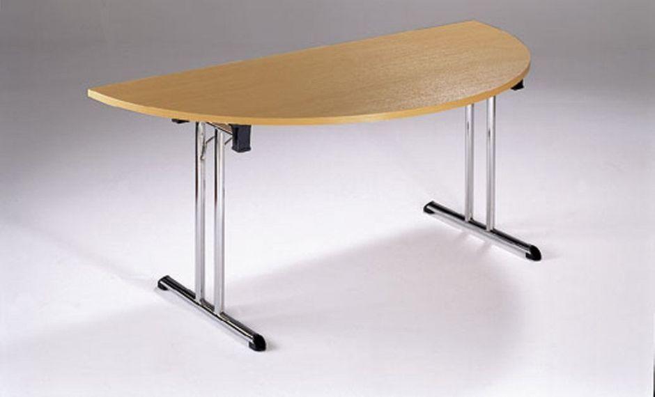 Folding half moon meeting tables foldaway office reality for 1 2 moon table